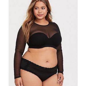 ➕ Torrid mesh long sleeve under-it-all crop top